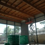 Electrical Work in Gymnasium